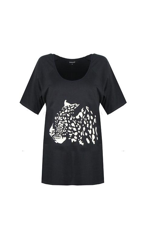 T-shirt met panterkop