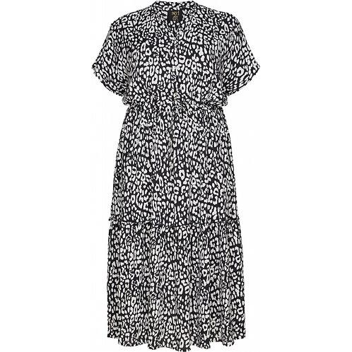 Jurk met zwart/wit luipaardprintje