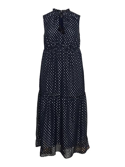 Maxi-jurk met zilverdetails