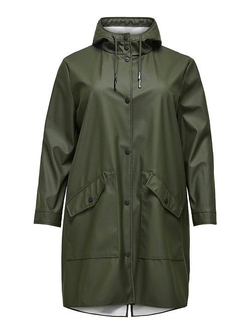 Stoere khaki regenjas