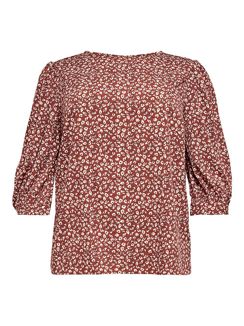 Top met puff sleeve