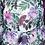 Thumbnail: Jurk met paarse bloemenprint