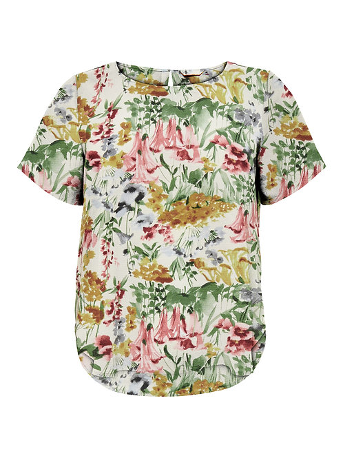 Blouse met blurry flowers