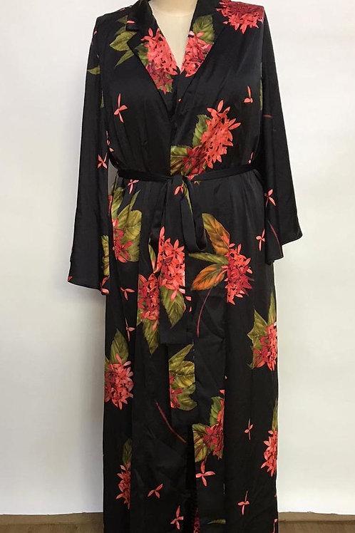 Kimono in Japanese flower