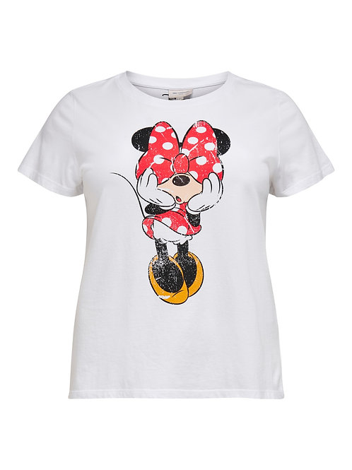 T-shirt Minnie Mouse in wit