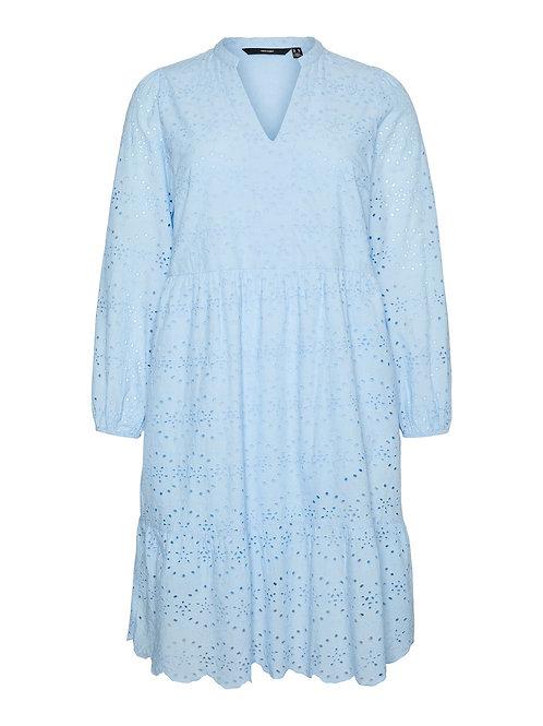 Broderie jurk Nice lightblue