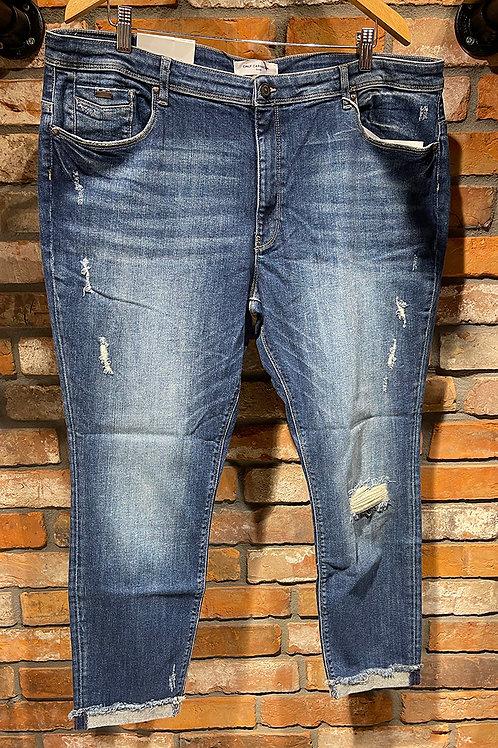 Jeans met disstressed look