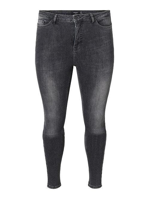 Lora superhighwaisted jeans in dark grey