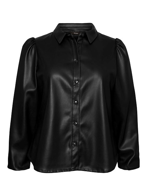 Blouse in faux leather