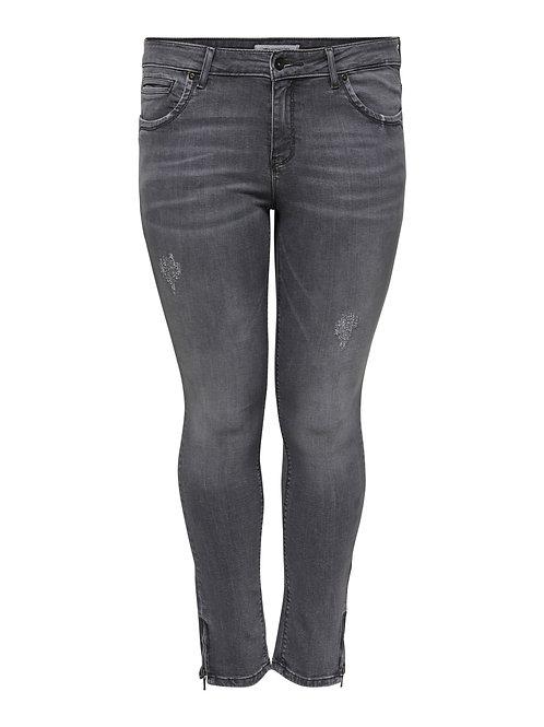 Only Karla ankle jeans met ritsje