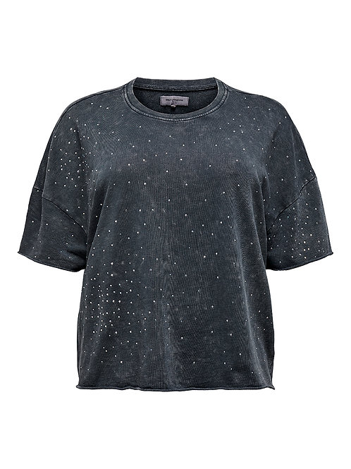 Boxy sweatshirt met strass
