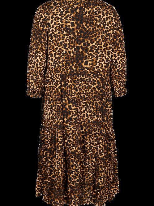 Midi jurk in panterprint