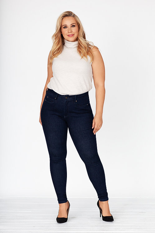 Fox Factor skinny jeans in devil blue