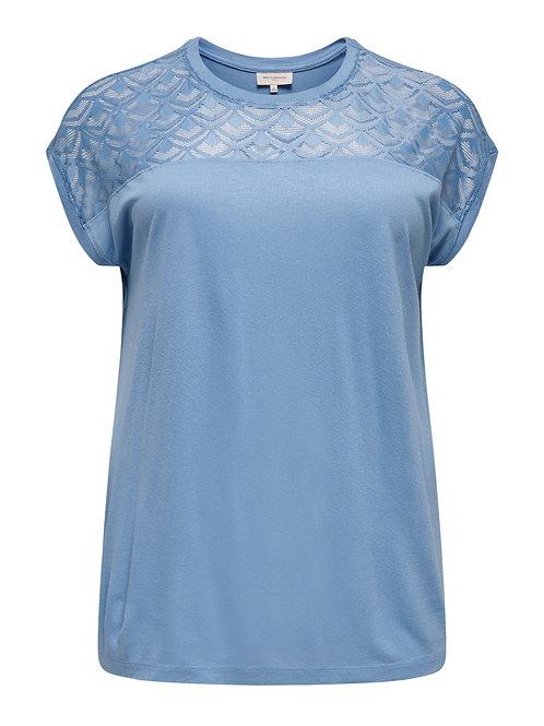 T-shirt met kanten inzet