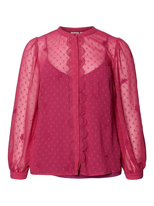 Blouse in fuchsia pink