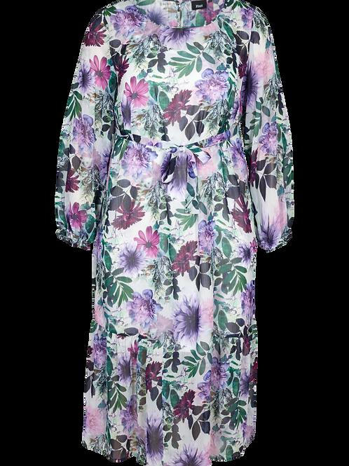 Jurk met paarse bloemenprint