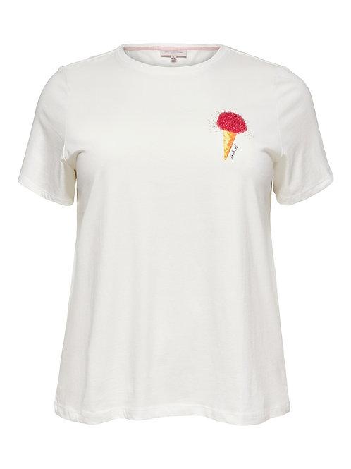 T-shirt met ijsje van pailletten