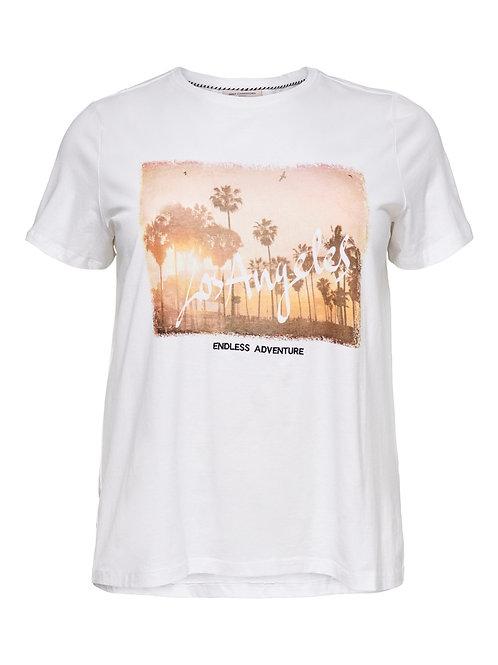 T-shirt met Los Angeles opdruk