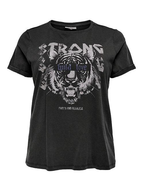 T-shirt met opdruk en glitter