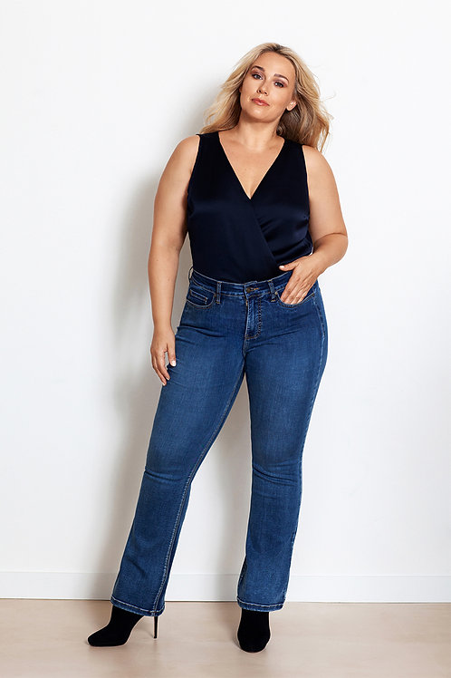 Fox Factor Bobi flared jeans in Eagle Blue