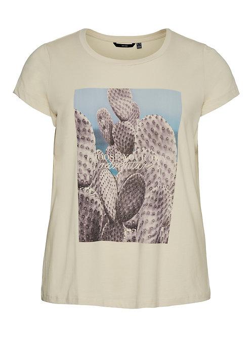 T-shirt met cactus opdruk