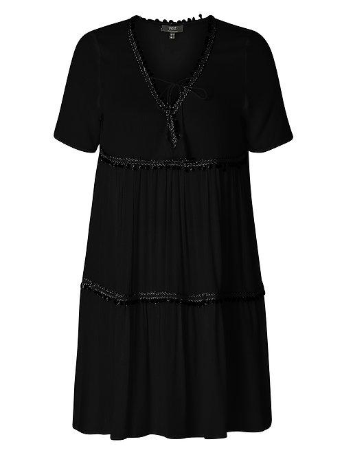Boho jurkje Jeena in zwart