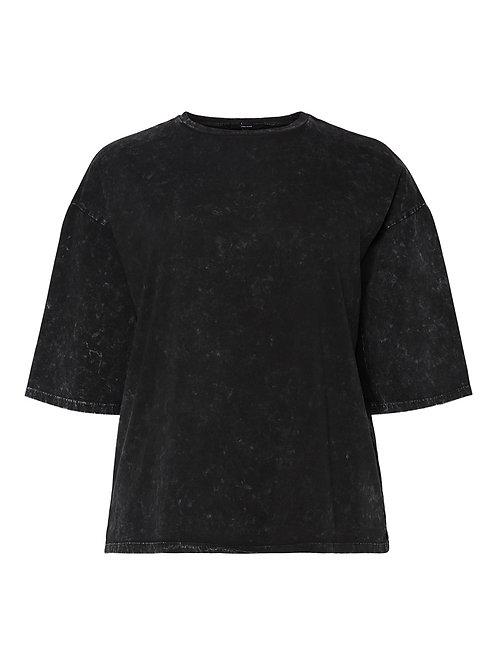 Boxy t-shirt in gewassen look