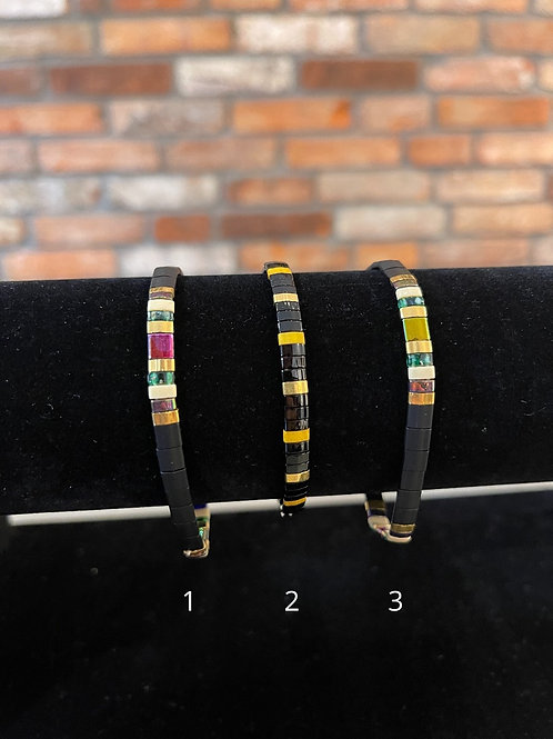 Armbandje met platte kraal van LOFFS