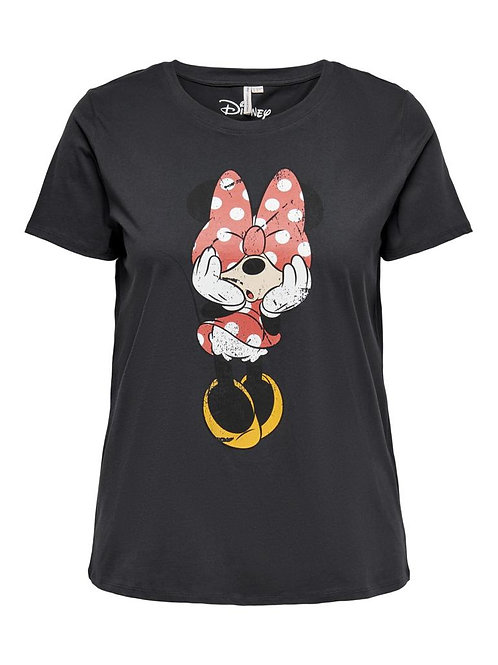 T-shirt Minnie Mouse in donkergrijs