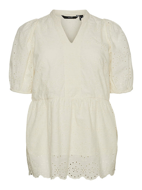 Broderie blouse Nice offwhite
