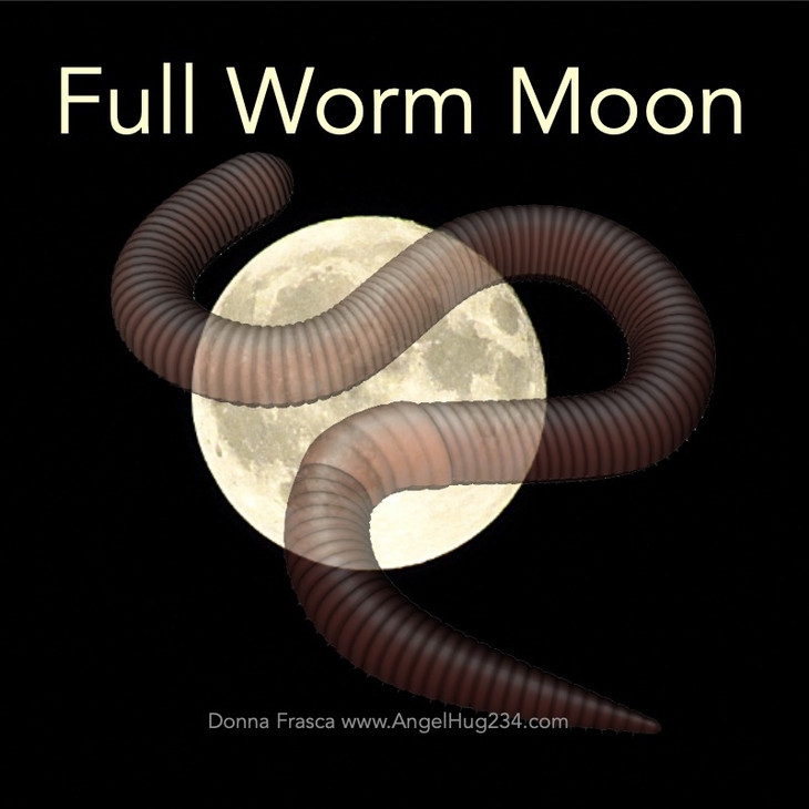 The Full Worm Moon Emerges