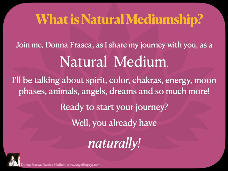 What Is Natural Mediumship?