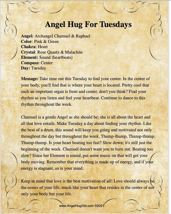 Angel Of The Week; Archangel Chamuel