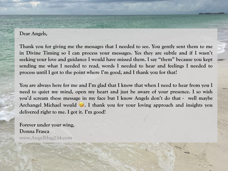 A Letter To My Angels
