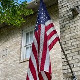 Close up of flag at 5750 Swiss Avenue