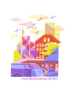 RISD Illustration senior show book cover