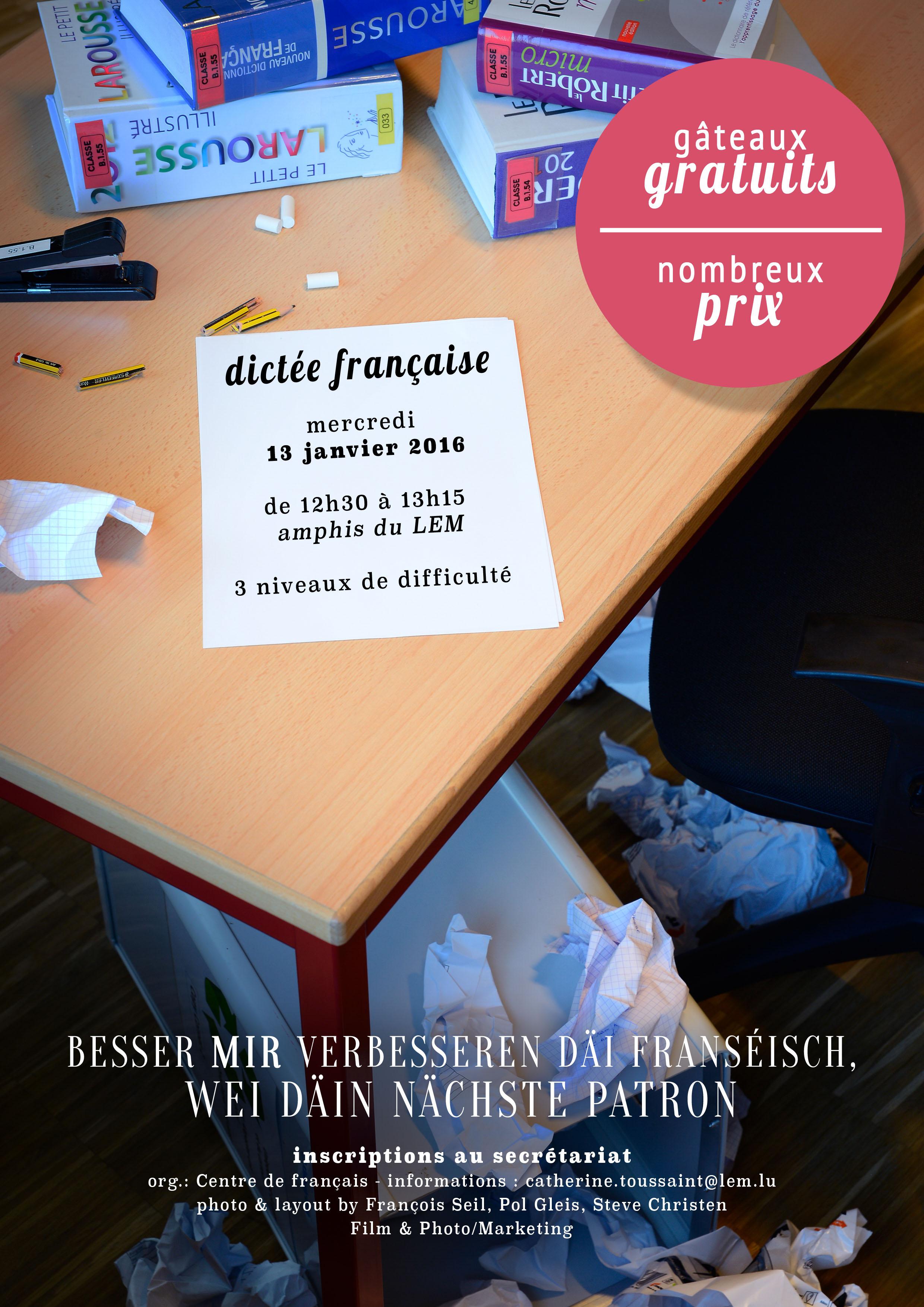 2015 dictee francaise