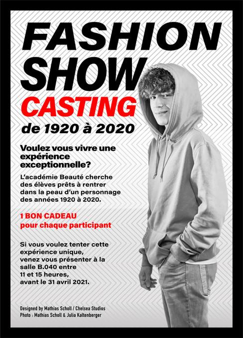 Campagne Fashion Show pour Académie Beauté