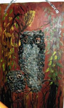Ann's Owl with rock on board.jpg