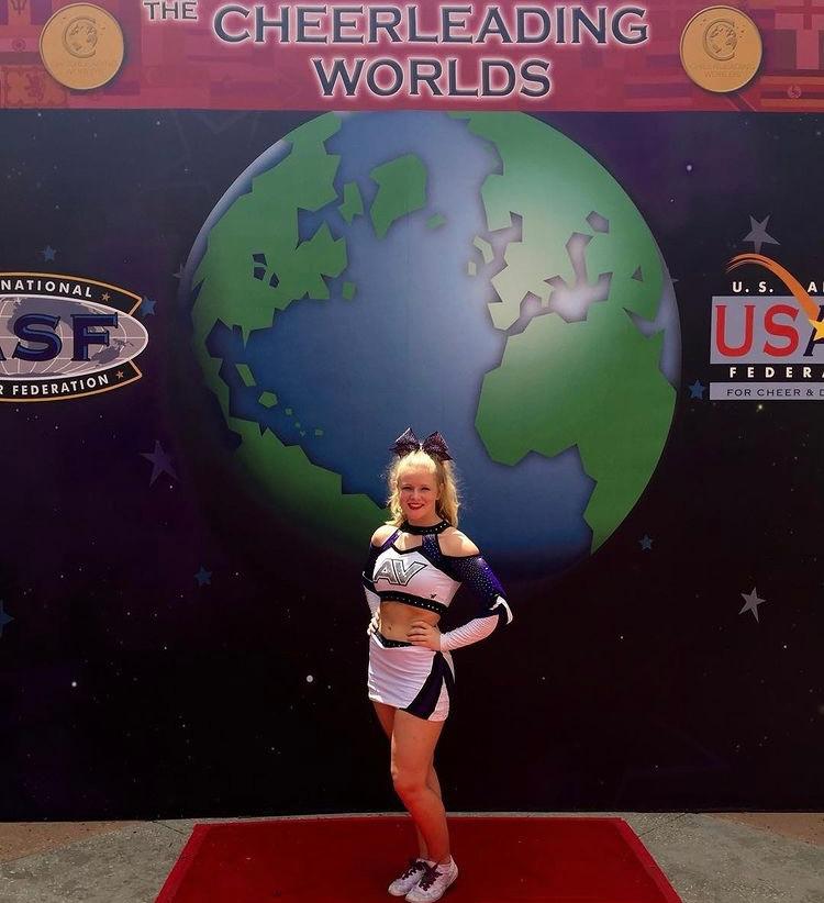 Steph at the Cheer World Championships