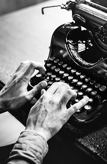 photo of hands typing