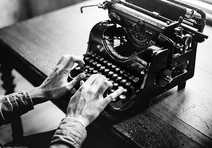Black and White Typewriter