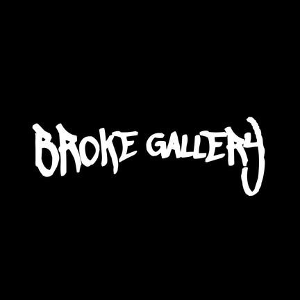 Broke Gallery Logo - White