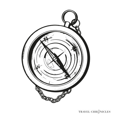 Compass Illustration - White