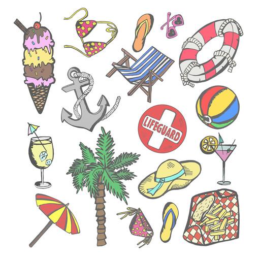 Beach Sticker Page