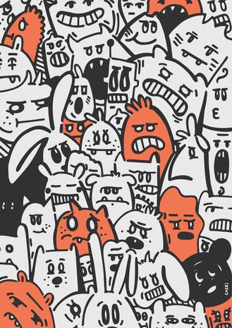 Orange Faces