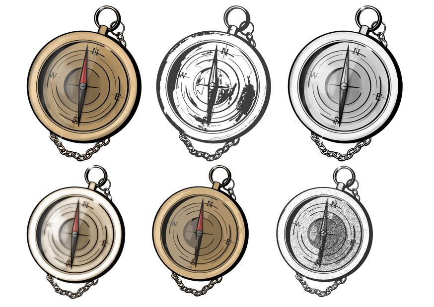 Rough Compass Illustrations