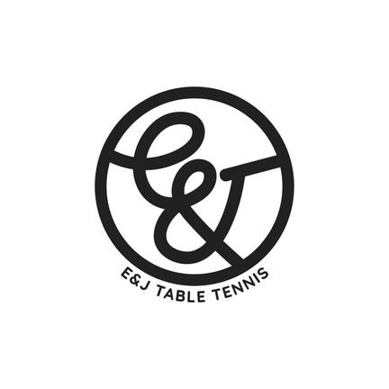 Table Tennis Logo - Black