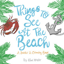 Things To See At The Beach -Sticker Book Design