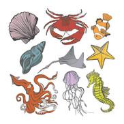 Sea Life Sticker Page